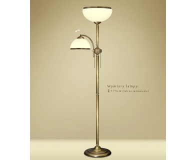 Mosiężna lampa podłogowa do salonu YR-P2E