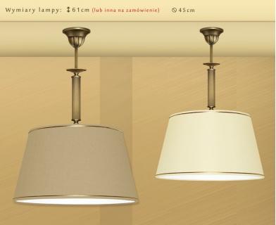 Lampa mosiężna z abażurem L-S1