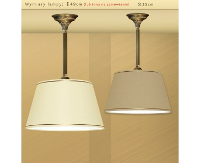 Lampa mosiężna z abażurem LA-S1B