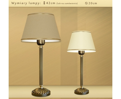 Lampa biurkowa z abażurem LB-B1
