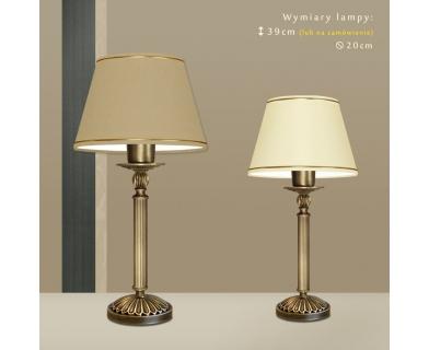 Lampa biurkowa mosiężna A-B1