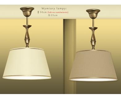 Lampa mosiężna z 1 kloszem PA-S1C