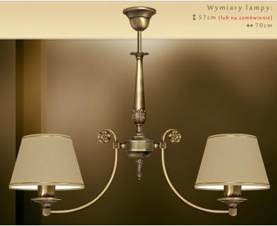 Mosiężna lampa 2-punktowa NA-S2