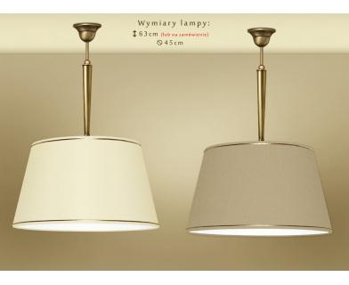 Lampa mosiężna z abażurem YA-S1