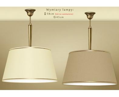 Lampa mosiężna z abażurem YA-S1C45