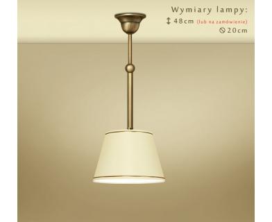 Mosiężna lampa wisząca z małym abażrem YA-S1M20