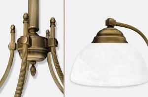 Mosiężne lampy patynowane Seria B